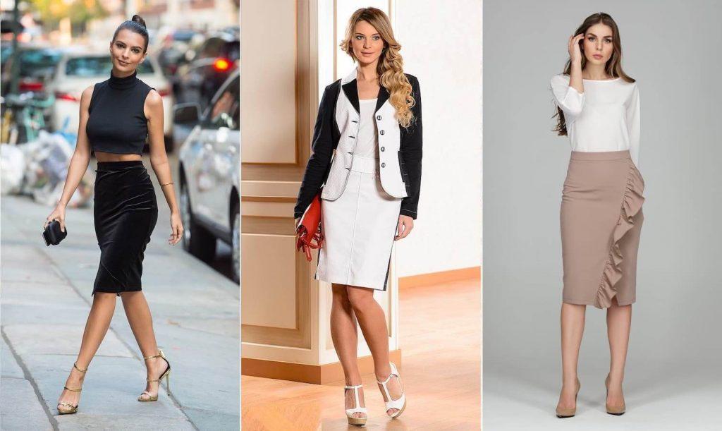Правильно подобранная юбка карандаш сделает фигуру женственной и соблазнительной.