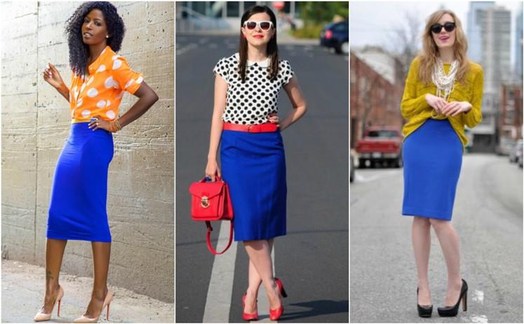 Цвет туфлей под юбку карандаш может быть любым, главное, чтобы он вписывался в общую цветовую гамму.