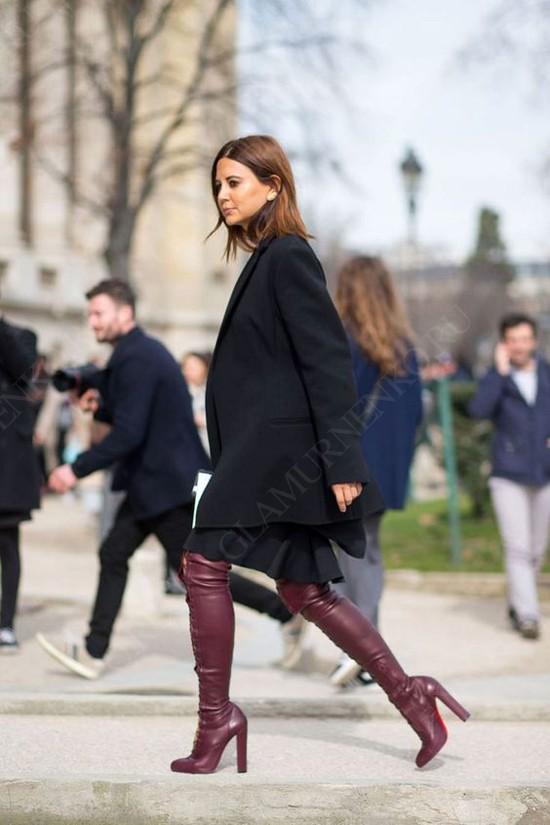 пример образа с ботфортами на каблуке