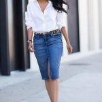 джинсовая юбка-карандаш 2