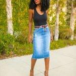 джинсовая юбка-карандаш 3