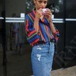 джинсовая юбка-карандаш 4
