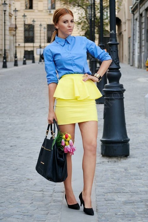 Кому можно носить юбку с баской?