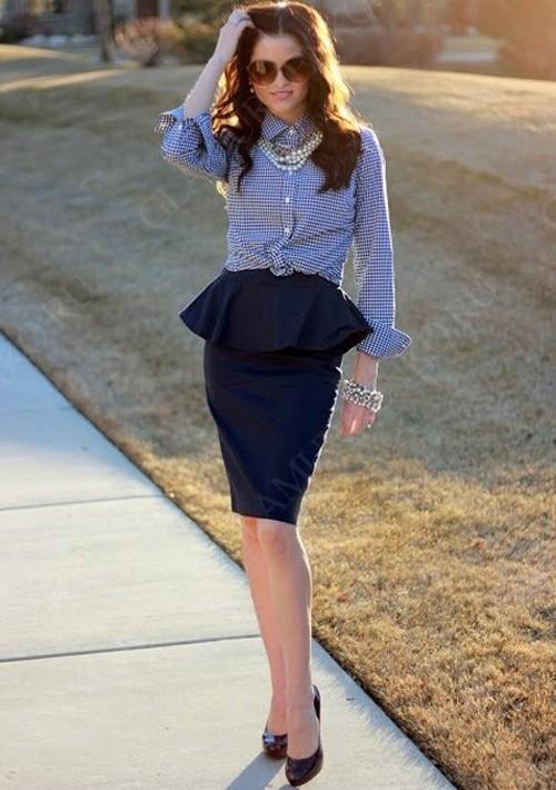C чем сочетать юбку с баской?