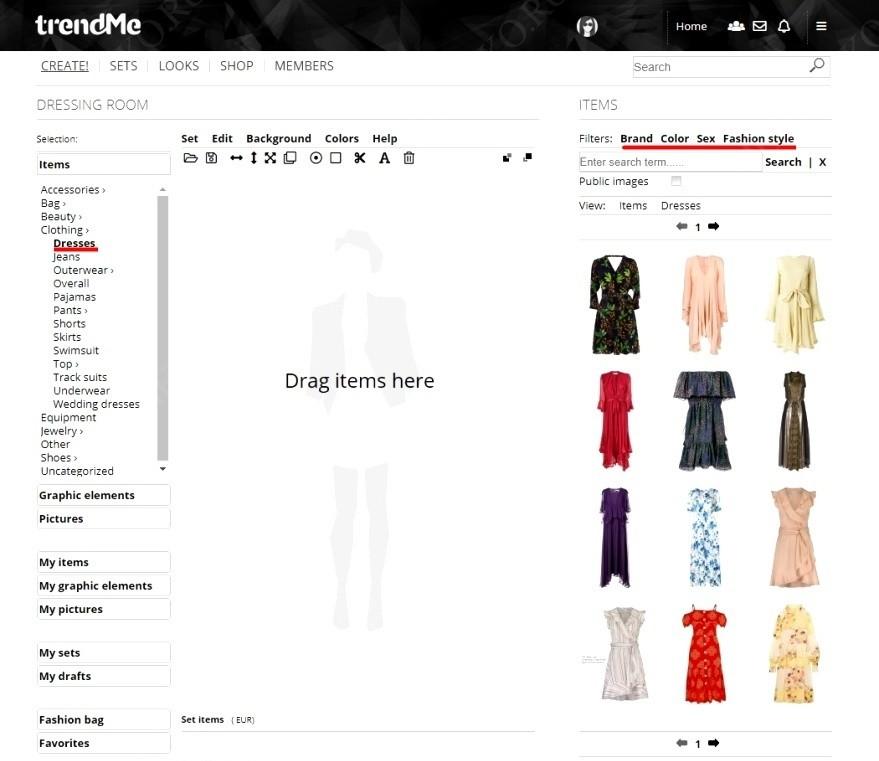 Сайт для создания сетов одежды продвижение сайтов как повысить посещаемость сайта