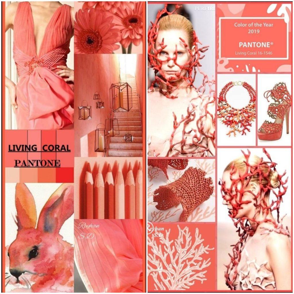 Открывает модную палитру оптимистичный оттенок Living Coral (Живой Коралл).
