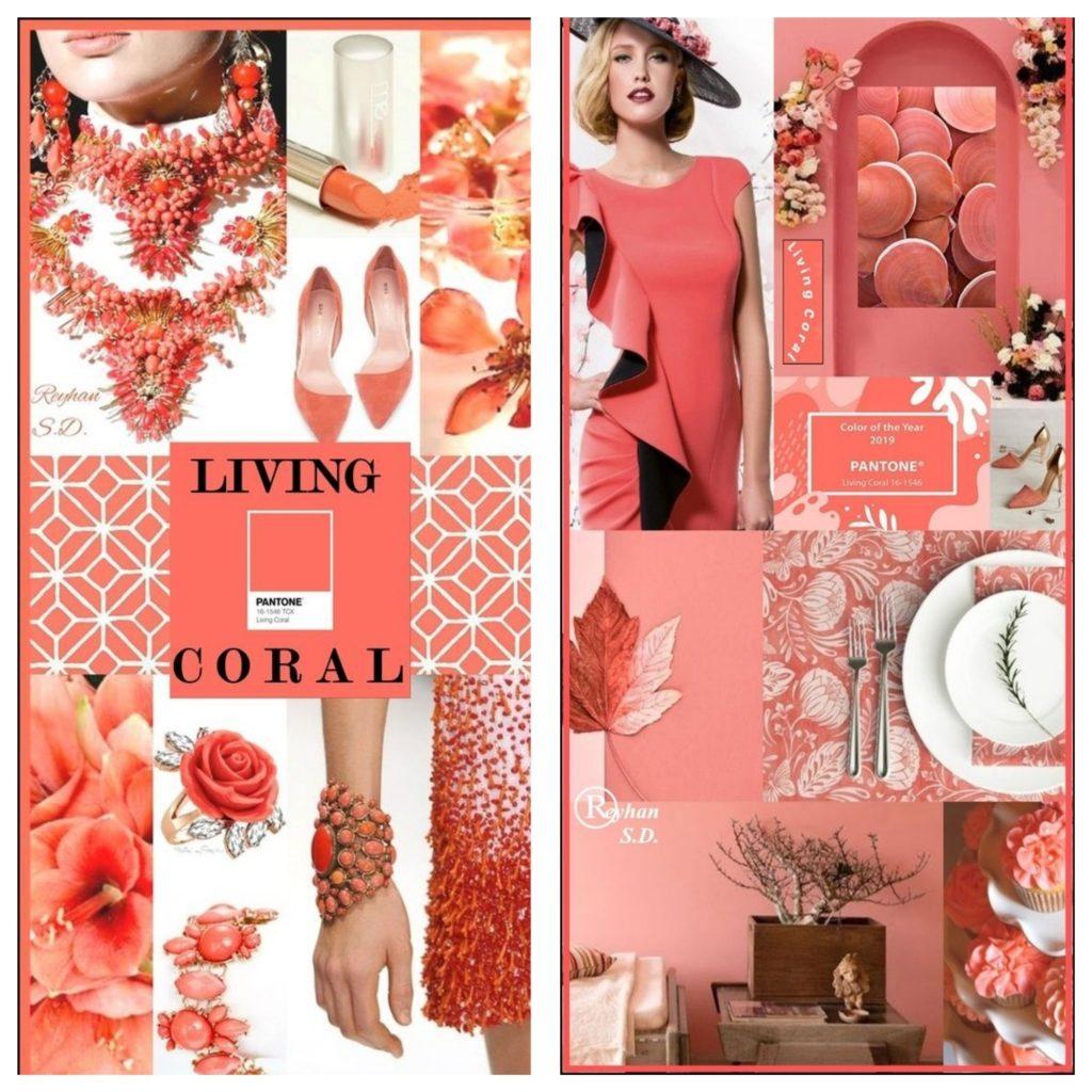 Живой Коралл хорош как в монохромных образах