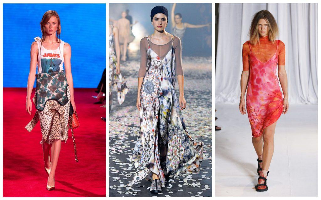 Пример образов Calvin Klein, Christian Dior, Collina Strada