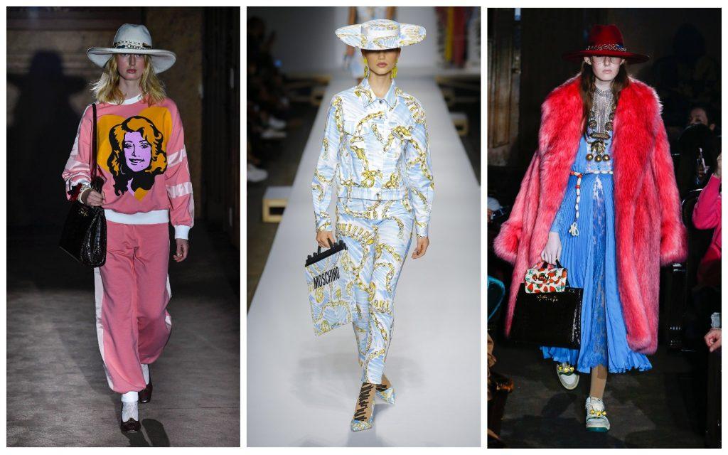 Пример образов Gucci, Moschino, Gucci