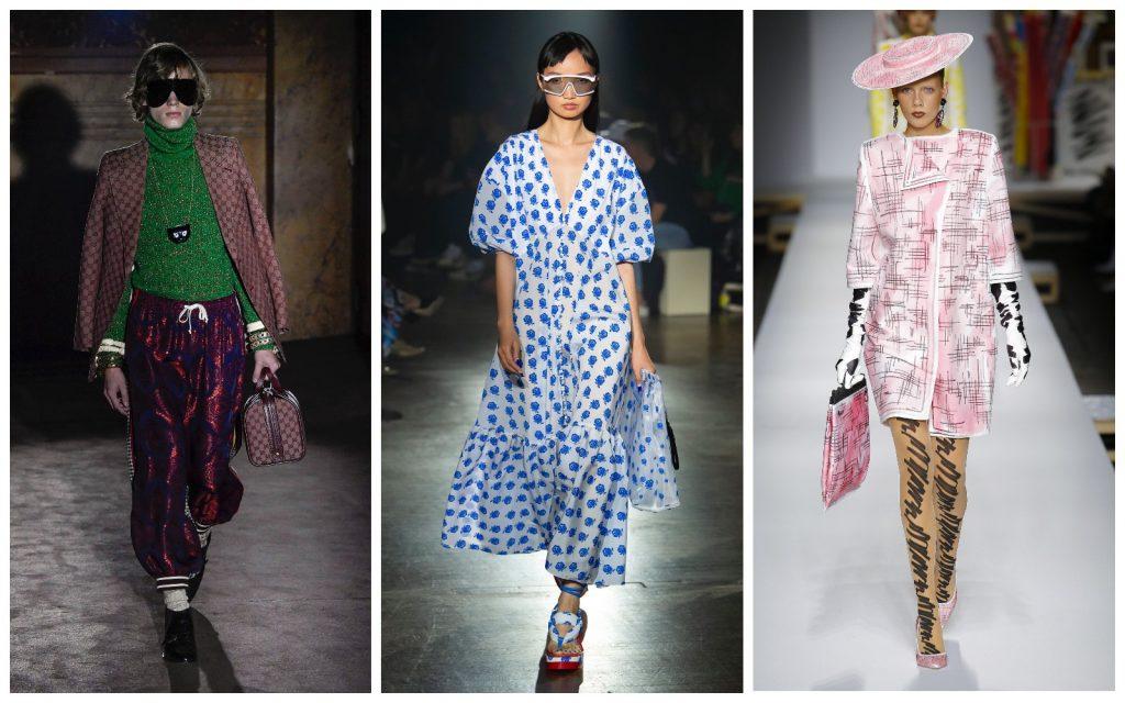 Пример образов Gucci, Kenzo, Moschino