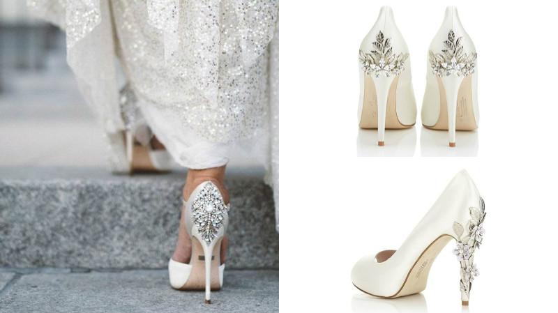 Свадебные туфли с декором станут изюминкой образа невесты.