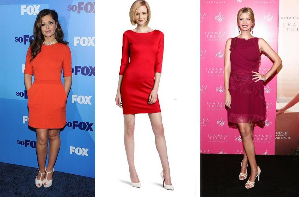 Клубника со сливками – так в мире моды называют беспроигрышный тандем белой обуви и красного платья.