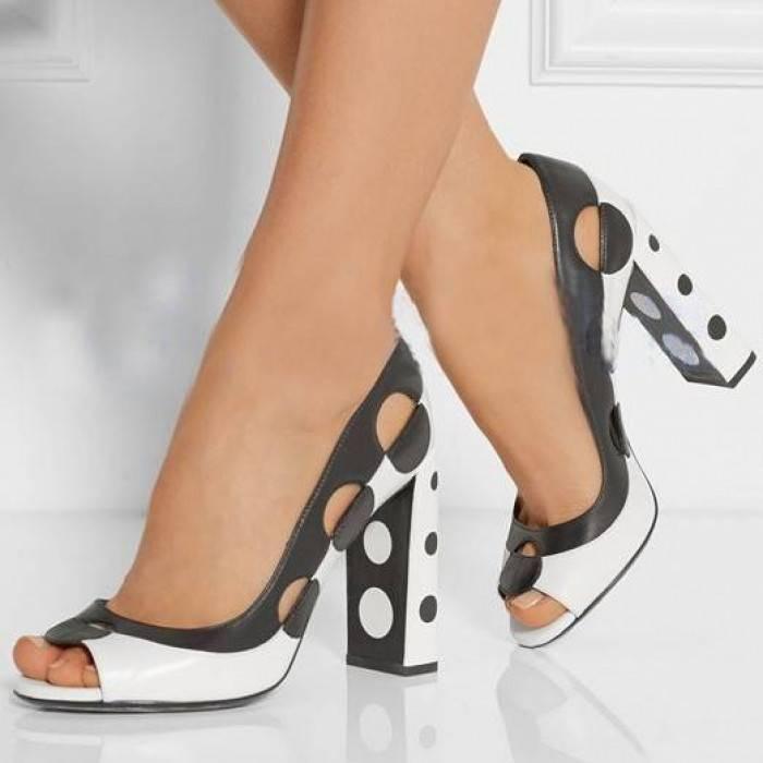 Черно-белая обувь сочетает преимущества классики и эффектности.