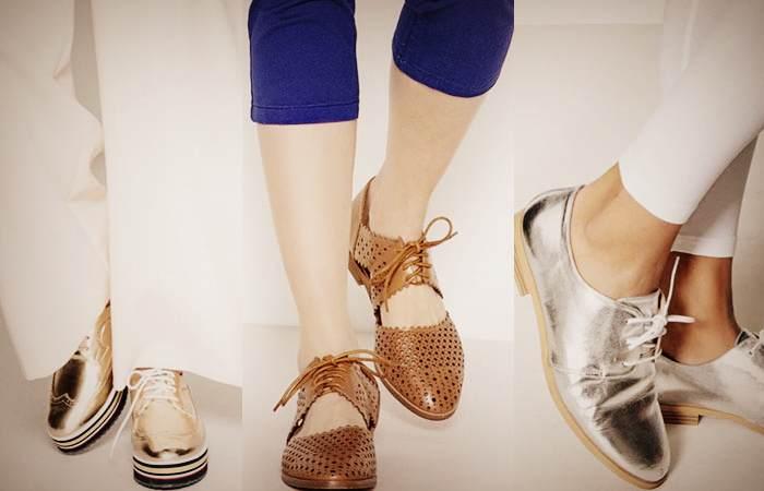 Ботинки дерби приобрели истинно женские черты: утонченность, блеск, разнообразие оттенков.