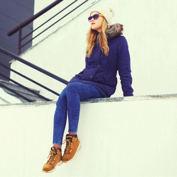 Ботинки из нубука идеально подходят для сухой зимы.
