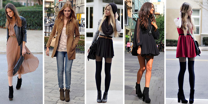 Ботинки на каблуке прекрасно подчеркивают длину ног в сочетании с узкими брюками и юбками.