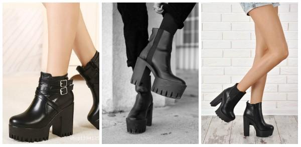 Ботинки на каблуке просто созданы для изящных ножек и смелых девушек.