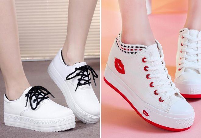 Эффектные спортивные ботинки для модниц.