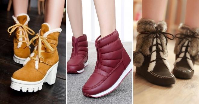 Три варианта популярных оттенков ботинок: бордо, шоколадный и карри.