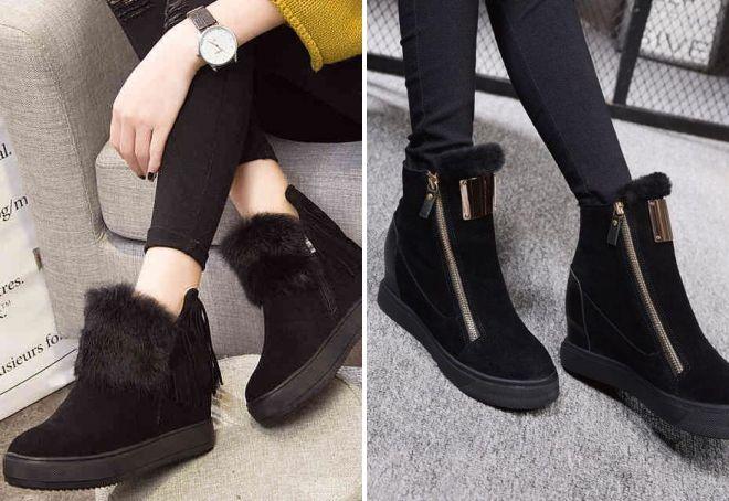 Замшевые ботинки смотрятся очень элегантно и изысканно.