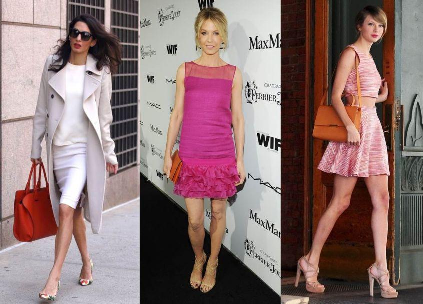 Отличная комбинация легкого платья и акцентирующей обуви