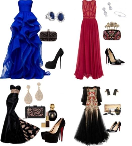 Примеры вечерних нарядов, в которых обувь является качественным дополнением образа