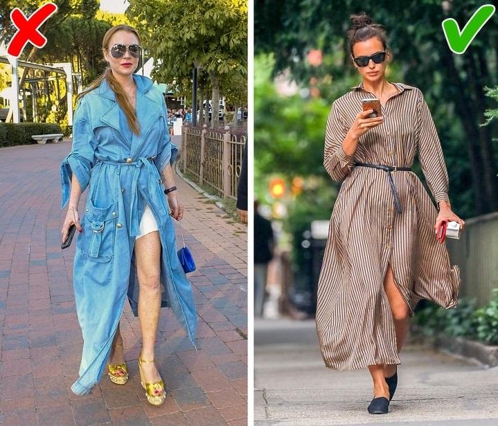Комбинация платья и туфель одного цвета.