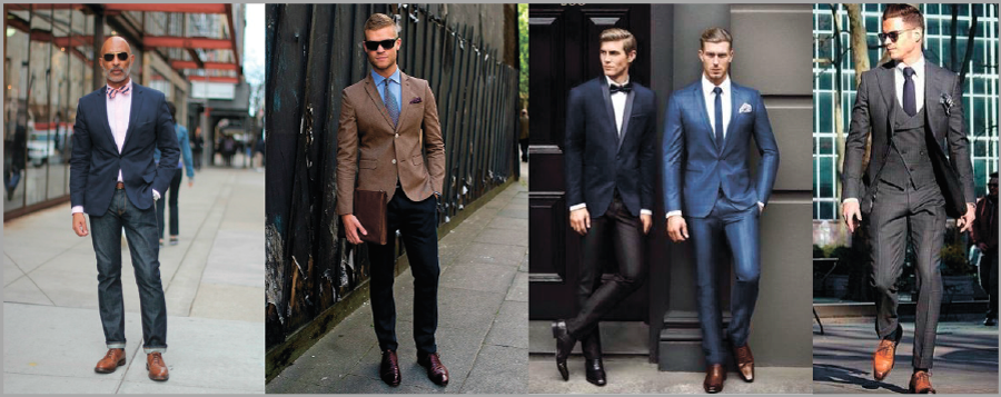 Оксфорды идеально смотрятся в деловом стиле одежды.