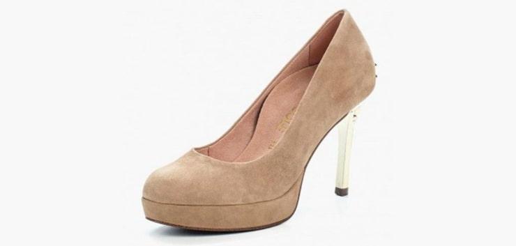 Удобные туфли на высоком каблуке со стелькой