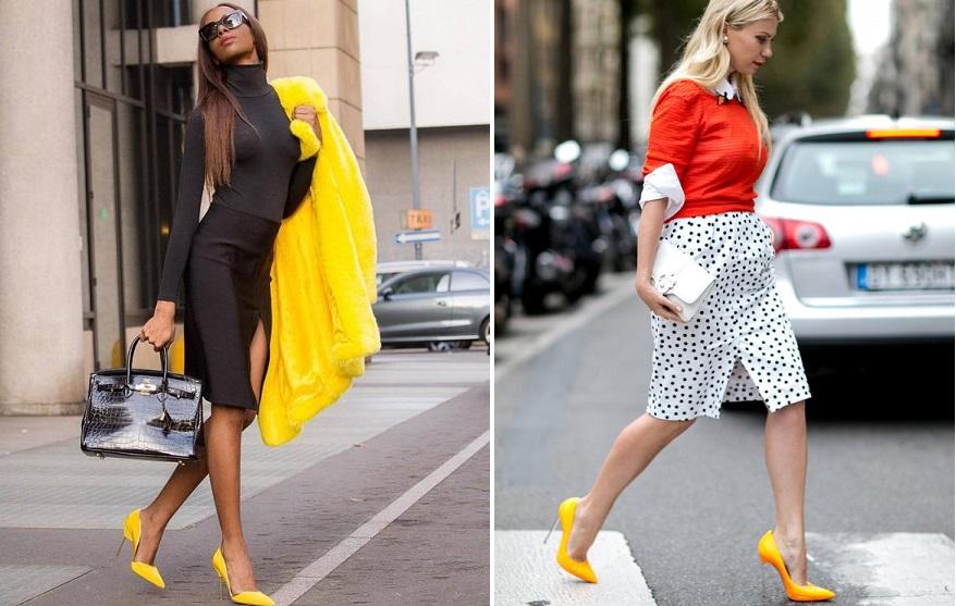 Светло-желтый – актуальный цвет обуви сезона