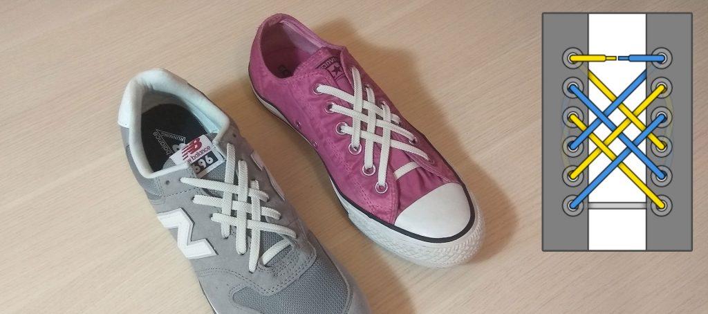 Решетка смотрится красиво на любой паре обуви.