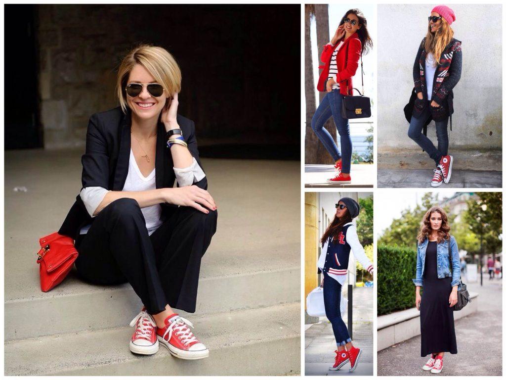 Красные кроссовки вне сезона и стиля, они уместны всегда.