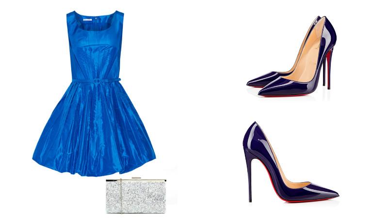 Лаковые туфли в тон платью - это признак элегантности!