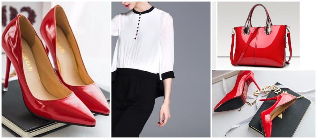 Красные туфли - нестандартное решение для делового образа, но если дресскод позволяет, почему бы и нет.