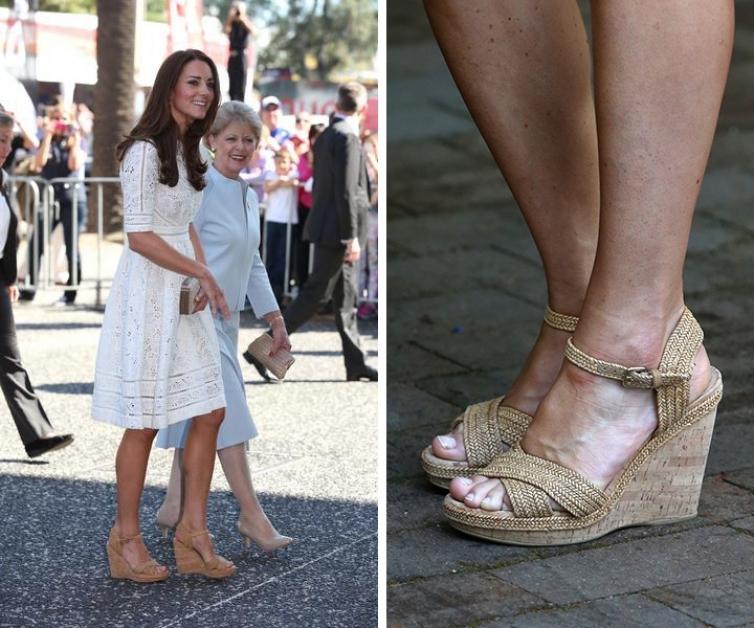 Нюдовая обувь на пробковой платформе идеально подчеркнет свежесть белого лука.