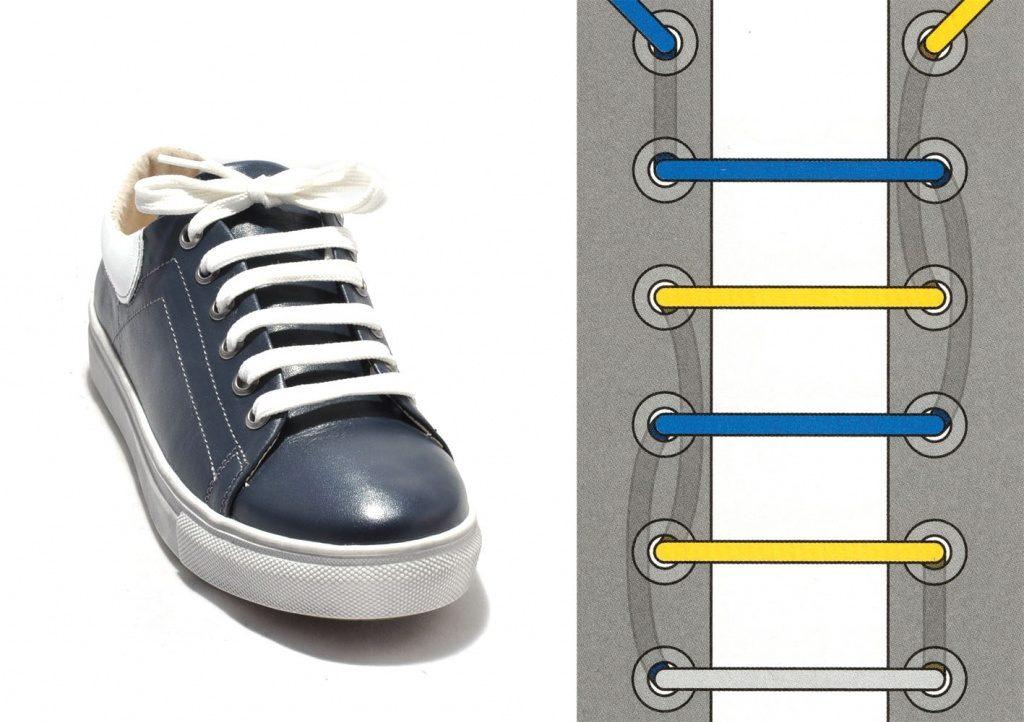 Эффектный минимализм прямоугольной шнуровки.