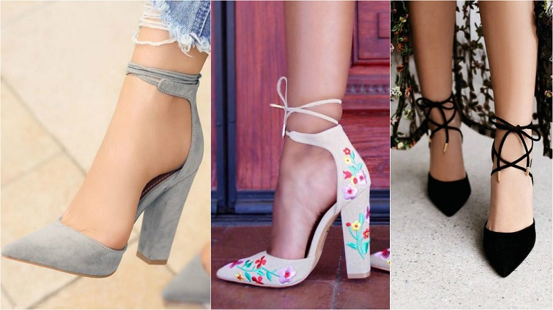 Стильные варианты босоножек с закрытым носком.