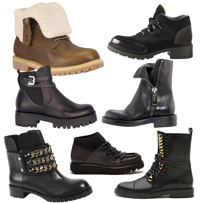 Разнообразие женских ботинок впечатляет.