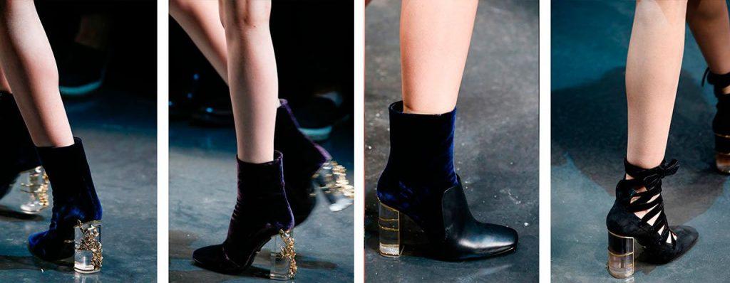 Ботинки на необычном каблуке станут украшением гардероба.