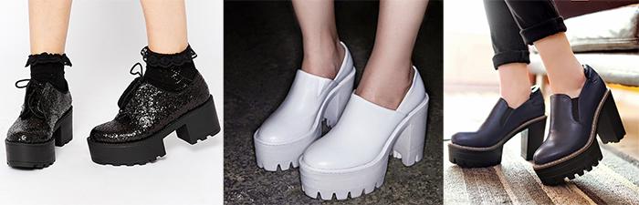 Модные ботинки на тракторной подошве.