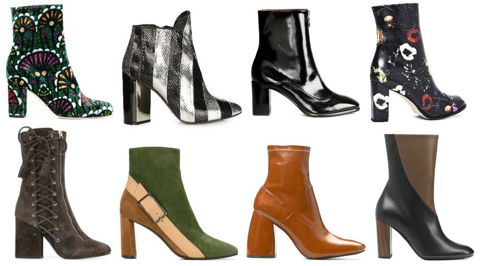 Тренд сезона - ботинки на квадратном каблуке.