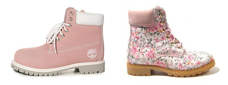 Нежные розовые ботинки смотрятся очень по-девчачьи.