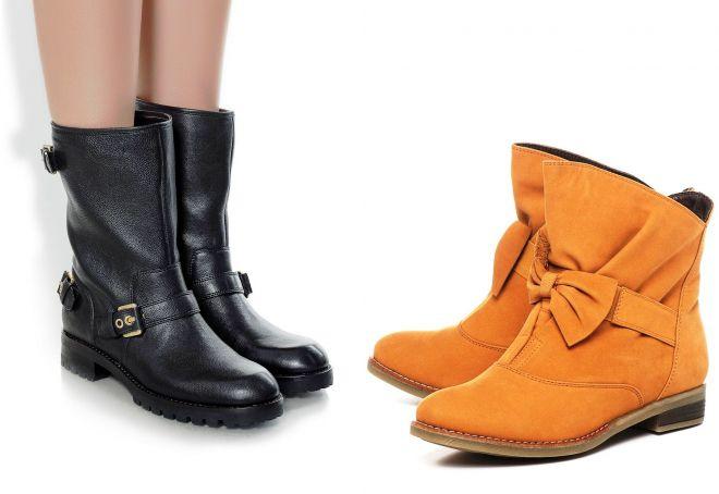 Ультра-практичное или ультра-модное решение коротких сапог: выбирать вам.