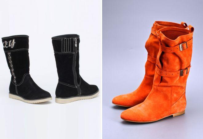 Война оттенков: черные или оранжевые короткие сапоги?
