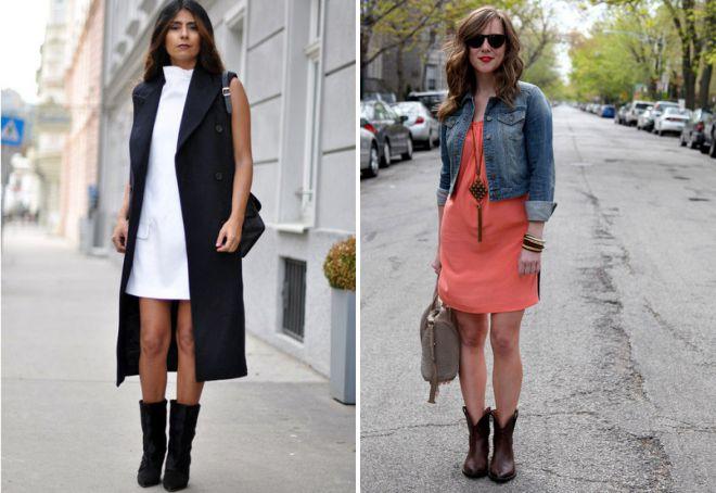 Короткие сапоги отлично сочетаются с классическим женским гардеробом.