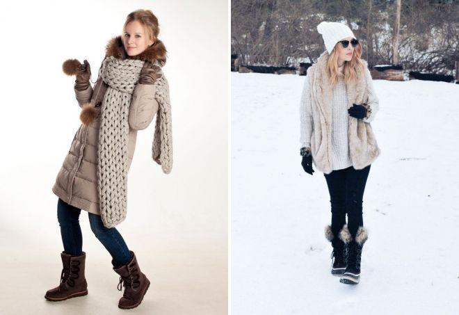 Короткие сапоги на низком ходу идеально сочетаются с зимним гардеробом.