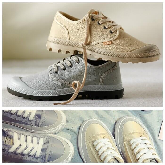 Модные замшевые кроссовки пастельных оттенков.