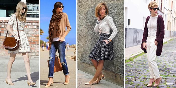 Низкий каблук также подойдет к летнему платью, джинсам и деловым брюкам.