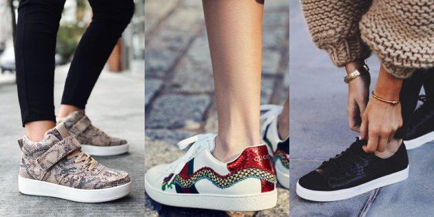 Змеиные мотивы на пике популярности в мире кроссовок.