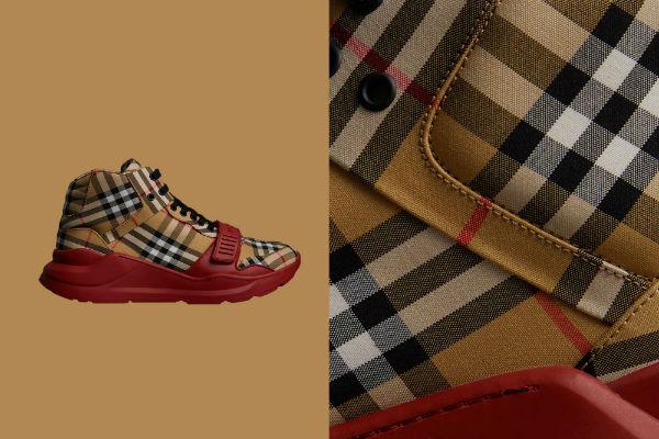 Модные кроссовки от Burberry.